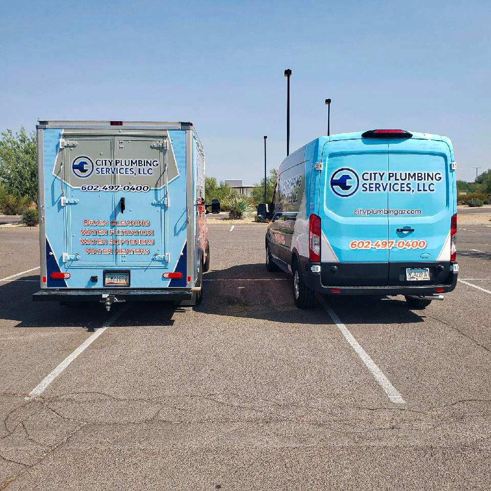 City Plumbing Services Vans in Phoenix, AZ